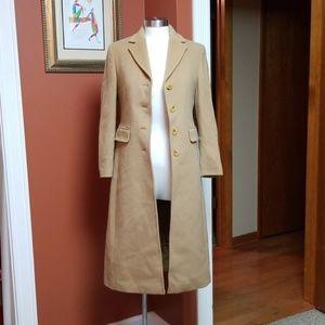 Tan Cashmere blend long coat